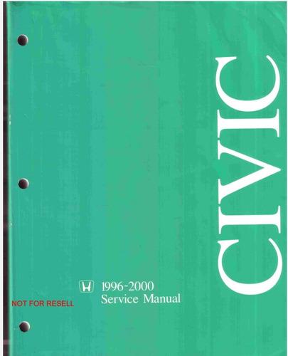 civic manual de taller /servicio todas versiones 96-00