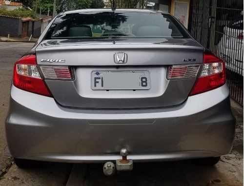 civic sedan lxs 1.8 flex manual 2013 cinza un dono completo