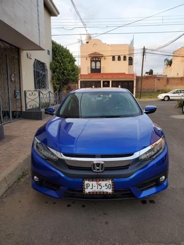 civic turbo touring mod. 2018 color azul. menos de 15,000 km