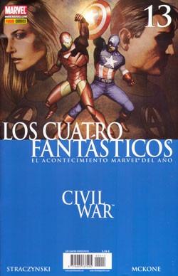 civil war - los 4 fantasticos (completo) panini españa