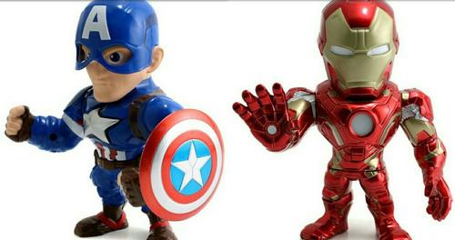 civil war set 2 figuras metals die cast jada toys 6 pulgadas