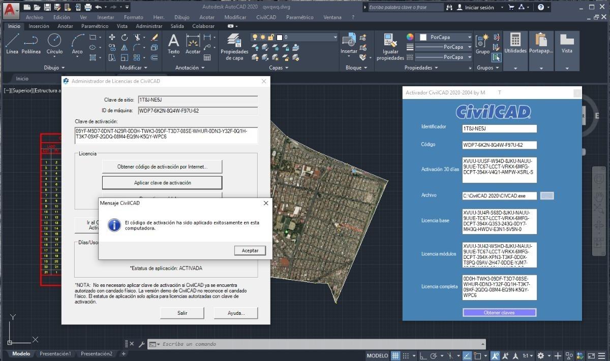 Civilcad 2020 2004 Licencia Permanente Modulos