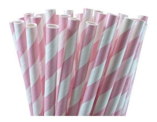 cj 100 canudos papel vintage colorido canudinho festa bebida