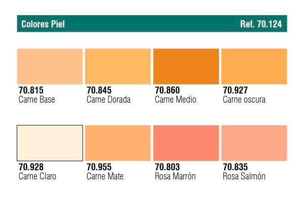 Cja 8 colores model color tonos piel acrylicos vallejo - Tonos de pintura ...