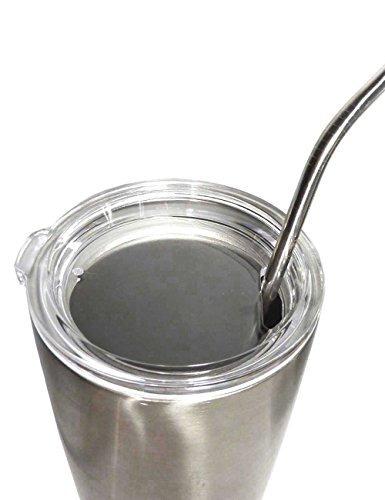 cjhfamily 6 pajas de beber de acero inoxidable extra largas