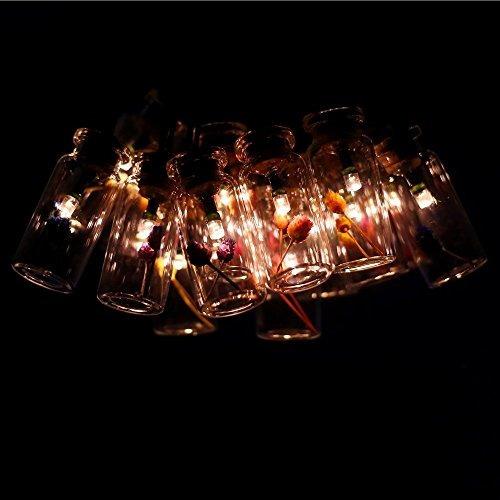 cjsolar set de 15 tarros de cristal con flores felices solar