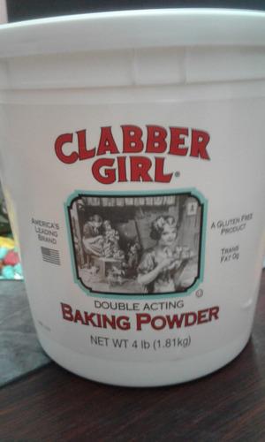 clabber girl 4 libras polvo de hornear importado