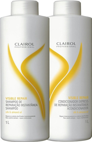 clairol visible repair - shampoo e condicionador de 1000ml