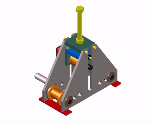 clalandra p/ metalon, tubos quadrados, ferro chato - projeto