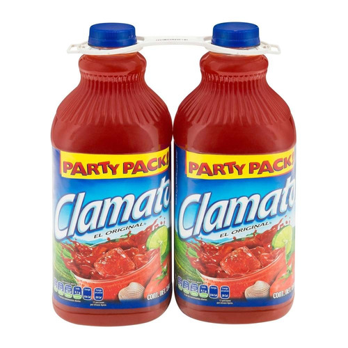 clamato party pack 2 pzas de 2.5 l