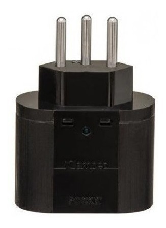 clamper pocket 3 pinos - protetor dps raios surtos-kit c/ 10