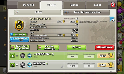 clan nivel 11 de clash of clans entrega personal
