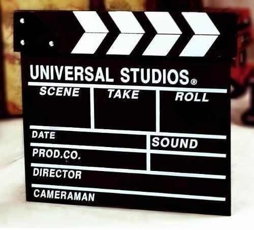 claqueta cine tv universal studios