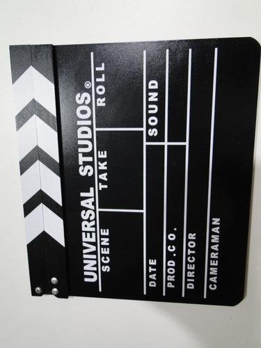 claquete show cinema universal warner paramount hbo 30x27cm