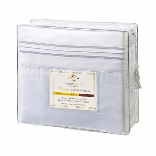 clara clark-sabanas de 1800 microfibra tipo algodon egipcio