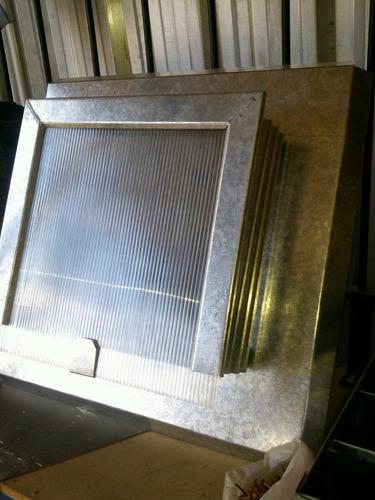 claraboya con policarbonato también puede venir con vidrio m
