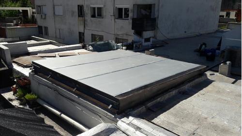 claraboyas. remasillados techos de policarbonato