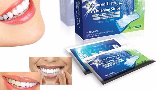 Clareador Branqueador Dental Em Fitas Clareamento Dente R 89 00