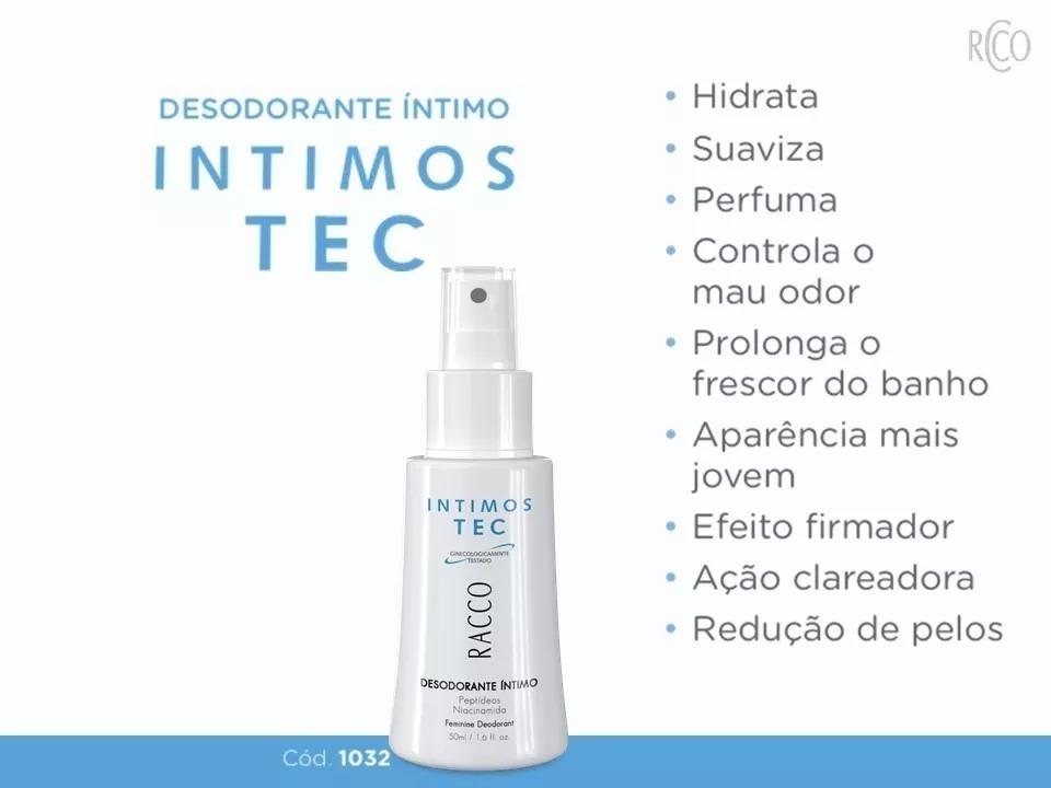 Clareador De Virilha Desodorante Intimos Tec Racco Original R 49