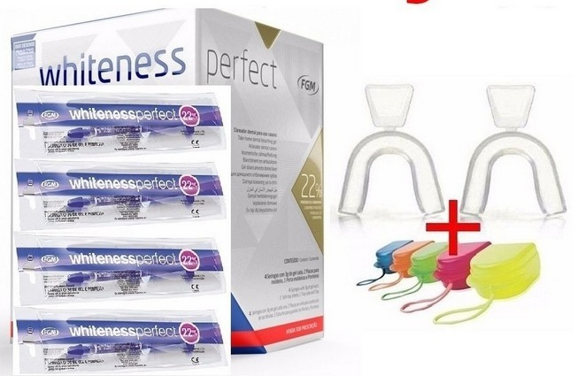 Clareador Dental 22 Whiteness Perfect 22 Kit Fgm Oferta R