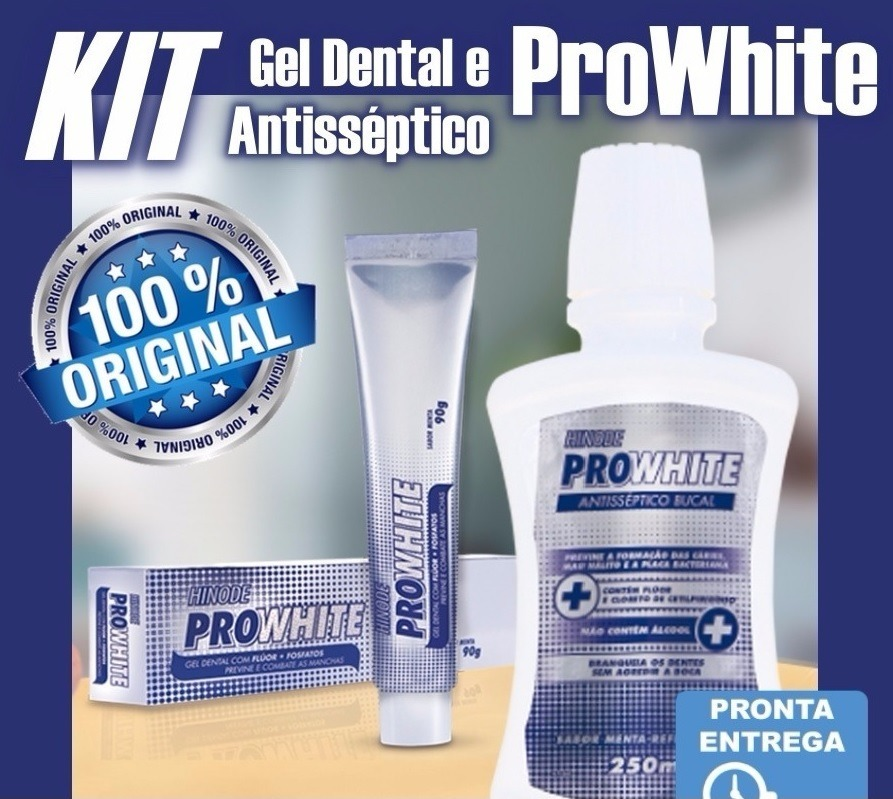 Clareador Dental Antisseptico Pasta Gel Pro White Hinode Top R 49