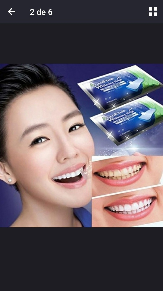 Clareador Dental Fita Clareadora 28 Fitas Dentes Brancos R 50