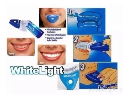 Clareador Dental Gel Whitelight Clareamento Dentes Brancos R 60