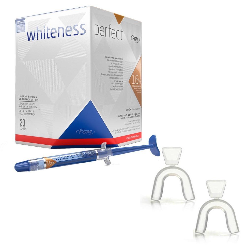 Clareador Dental Kit Whiteness Perfect 16 Fgm Moldeira R 111