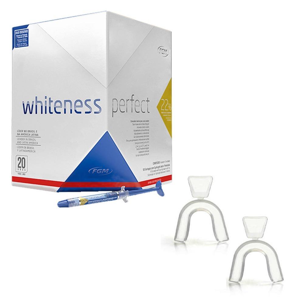 Clareador Dental Kit Whiteness Perfect 22 Fgm Moldeira R 115