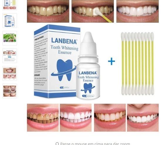 Clareador Dental Lanbena Dentes Sem Manchas E Amarelados R 50 00