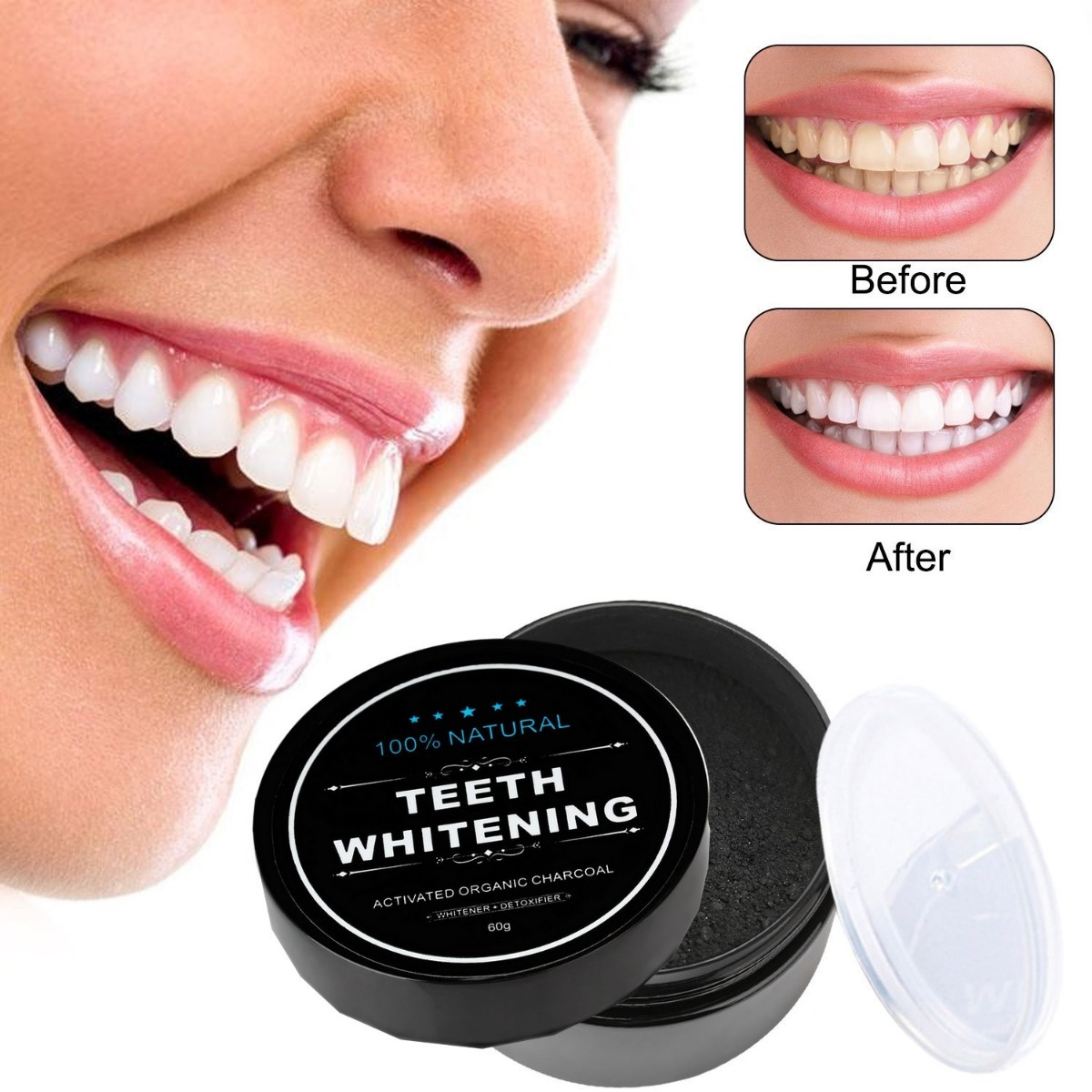 Clareador Dental Natural Teeth Whitening P 243 30g Original