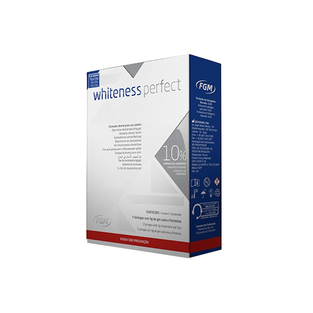 Clareador Dental Whiteness Perfect 10 Mini Kit R 57 90 Em