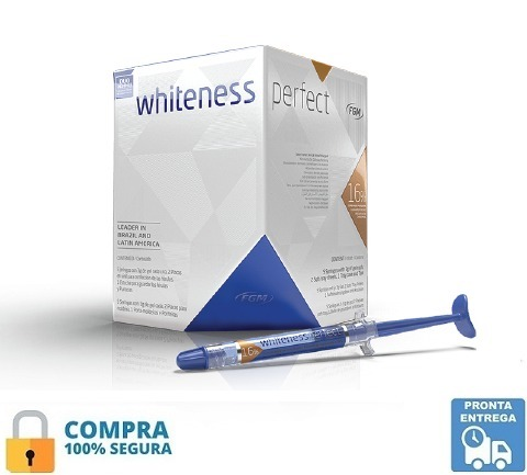 Clareador Dental Whiteness Perfect 16 05 Seringas Luz R 120