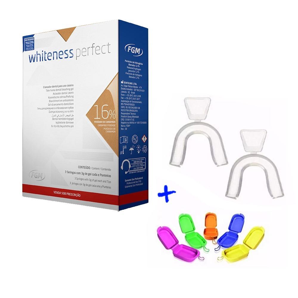 Clareador Dental Whiteness Perfect 16 Mini Kit Moldeira R 89