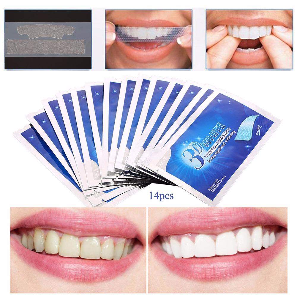 Clareador Kit Fitas Clareadoras Dentes Branqueador 3d White R 49