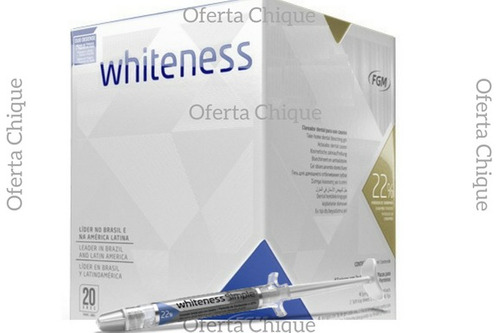 clareador whiteness perfect simple 22% - 1 seringa promoção
