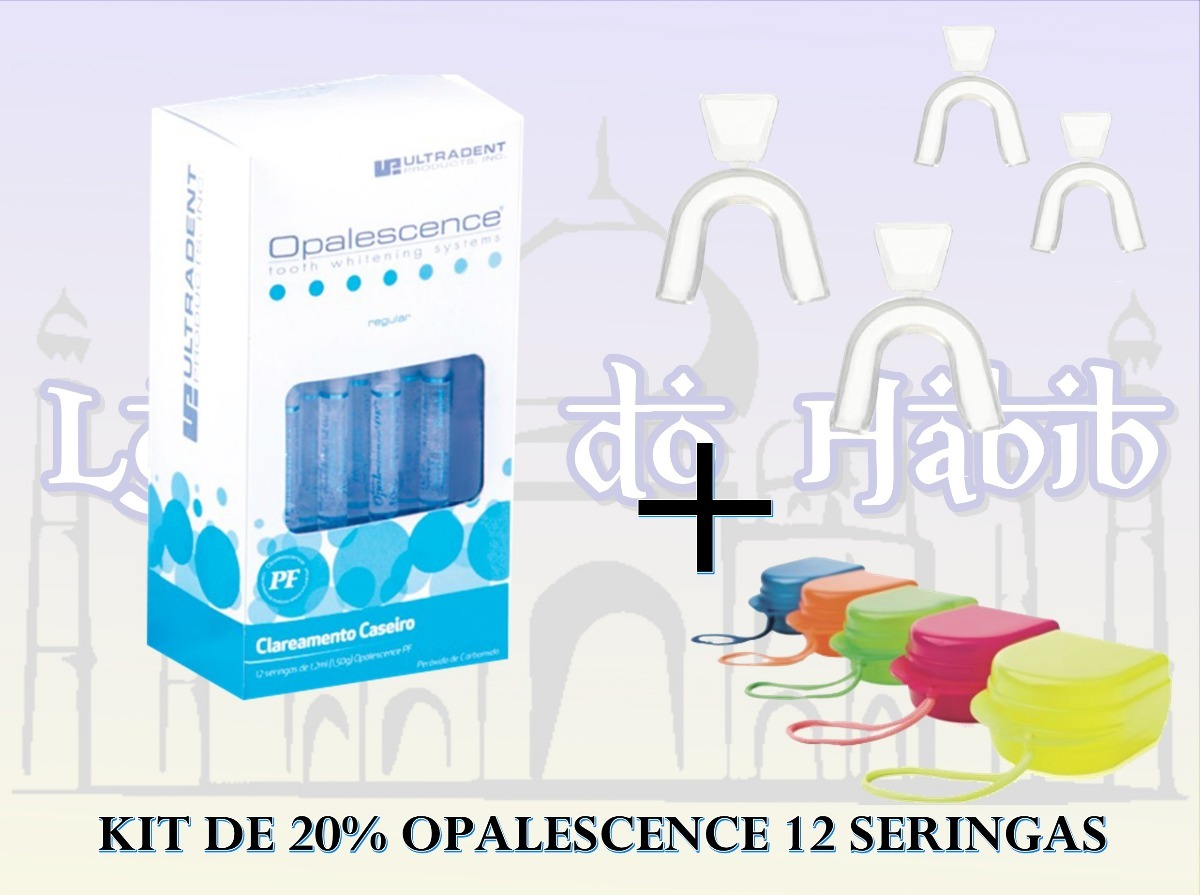Clareamento Dental 20 Kit C 12 Uso 1h Par Moldeira Estojo R
