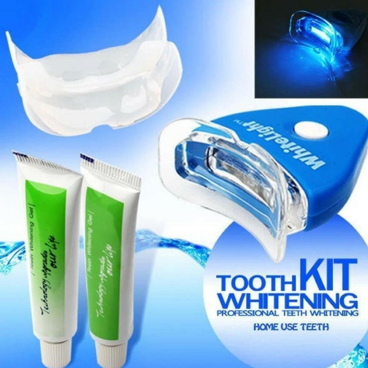 Clareamento Dental Com Led Gel E Molde Branqueamento Dentes R 34