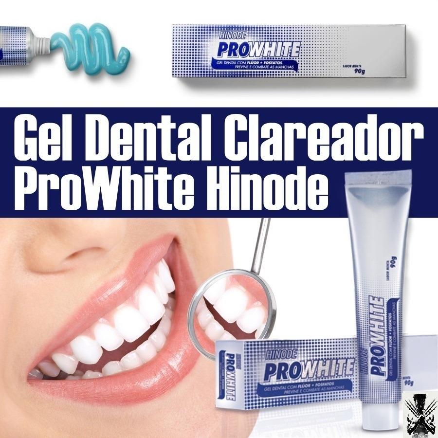 Clareamento Dental Creme Pasta Gel Pro White Hinode Promocao R 17