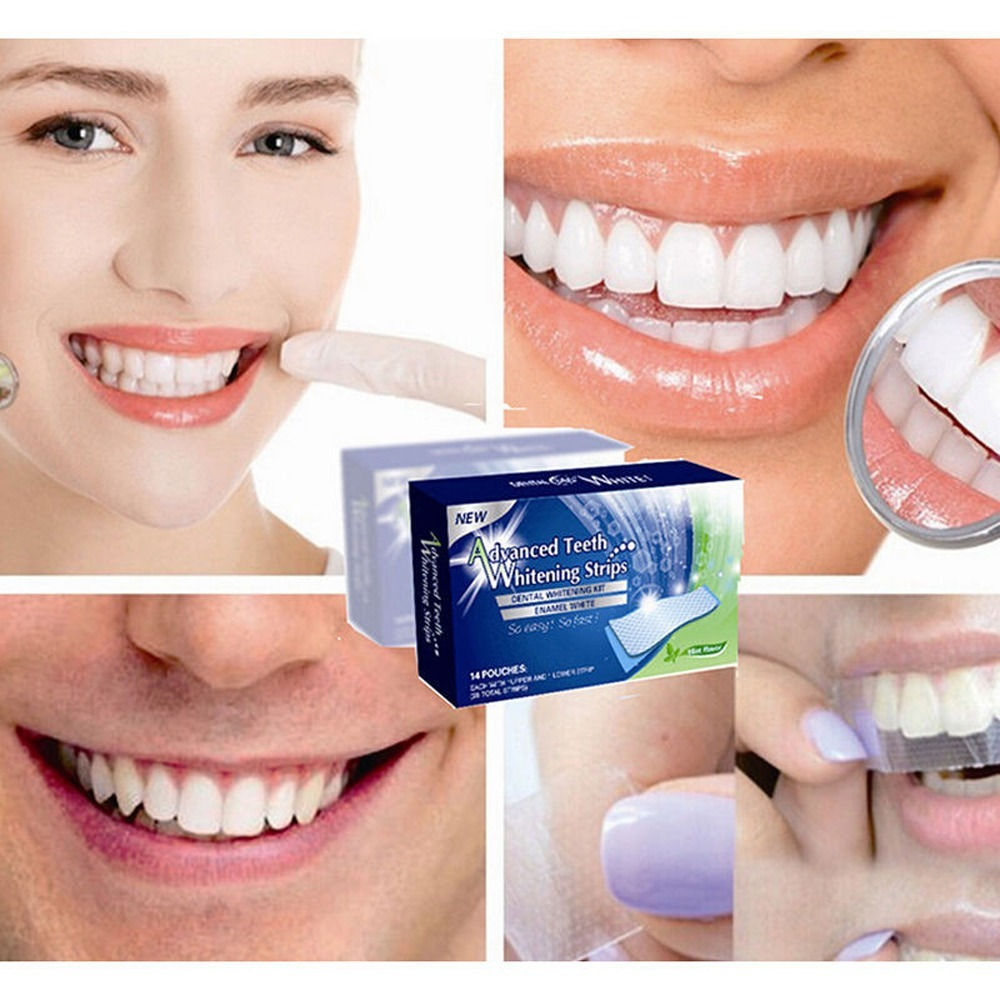 Clareamento Dental Em Fitas Gel Adesivas Advanced Teeth R 45 60
