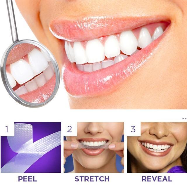 Clareamento Dental Fita Adesiva Whitening 28 Fitas R 79 90 Em