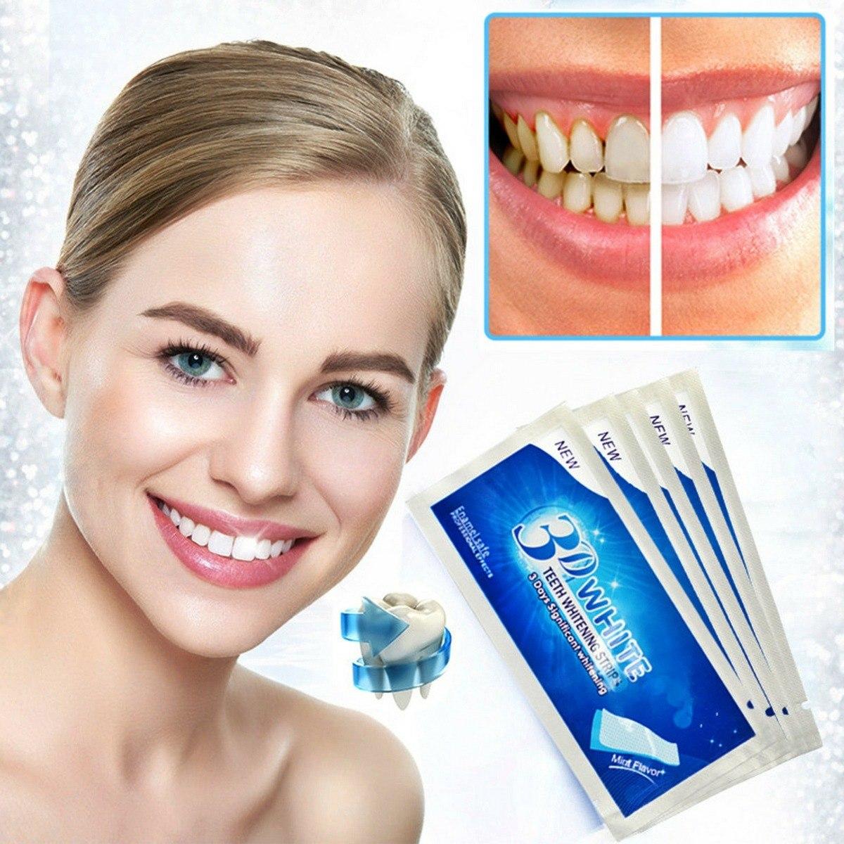 Clareamento Dental Fitas De Gel Adesivas 3d White Original R 49