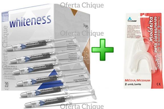 Clareamento Dental Whiteness Perfect Simple 16 6un Moldes R