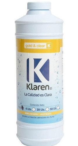 clarificador 4 lts + gold clear 1 lts klaren para albercas