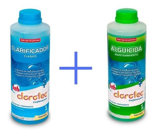 clarificador clásico + alguicida mantenimiento 1l clorotec