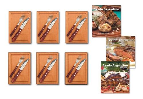 clarín colección 6 juegos de tabla + tenedor + cuchillo