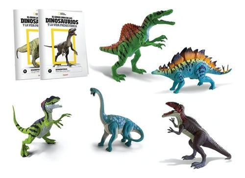 clarín colección de 14 dinosaurios de natgeo