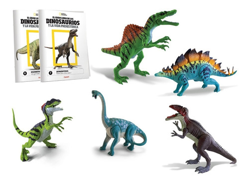 clarín colección de 19 dinosaurios de natgeo