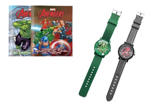 clarín colección marvel set 4 de 2 relojes