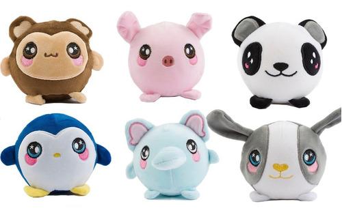 clarín colección mascotas de squishies set 1 de 6 peluches